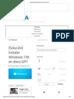 (Solución)Instalar Windows 7_8 en Disco GPT