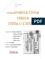 matemática china clasica