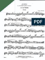 A La Valse (Violin)