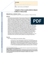 A Meta-Analytic Investigation of Neurocognitive Deficits in Bipolar Illness- Profile and Effects of Clinical State