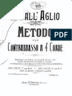 Metodo  Per Contrabbasso a 4 Corde (Parte I)