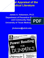 medical literature appraisal