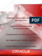 Ismael Cepeda Morales Oracle