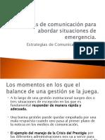 Técnicas de comunicación para abordar situaciones de emergencia