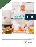 Training Manual for Ontario Food Handlers Certificate