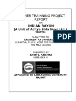 Indian Rayon Summer Project Report