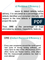 DRE (Defect Removal Efficiency )