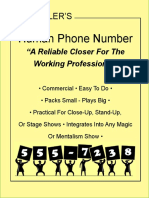 4746.Human Phone Number by Bob Kohler 电话号码预言书籍