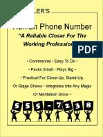4746.Human Phone Number by Bob Kohler 电话号码预言书籍