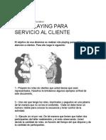 Role Play Servicio Al Cliente