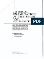 Physical Examination of the Spine and Extremities - Unknown