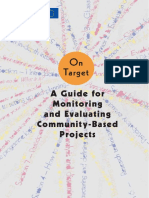 Guide for Monitoring Evaluation Community Based Projects
