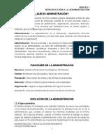 Conceptos de Administración y Corrientes Filosóficas