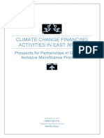 Explorating Partnership Opportunities in the Promotion of Green and Inclusive Finance in East Africa