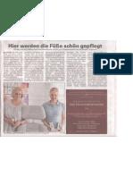 Pressebericht zur Eröffnung der Podologischen Gemeinschaftspraxis Bad Oldesloe