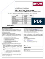 Rental Application Form VIC