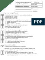 Check List Laboratorio