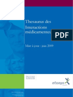 Thesaurus Des Interactions Medicamenteuses 2009