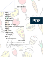 Lesson Plan Food and drinks