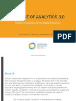 The Rise of Analytics 3.0. Thomas Davenport