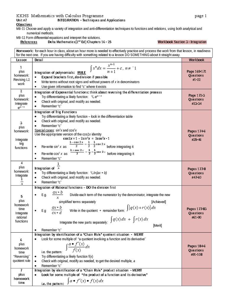 l3 integration   Integral   Derivative