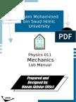 Mechanics Lab Experiments