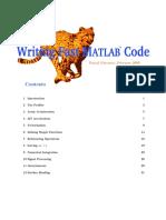 Writing Matlab Codes