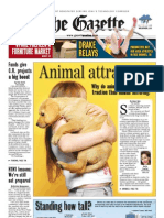 Front page of The Gazette, April 24, 2010