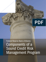 Components of a Sound Credit Risk Management Program