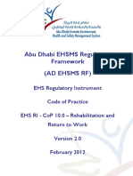 AD EHS RI CoP 10.0 - Rehabilitation and Return to Work