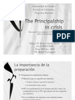 The Principal Ship in Crisis