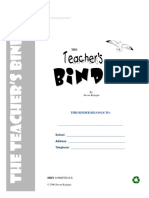 Teachers Binder Samples
