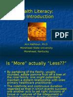 Health Literacy Intro KY