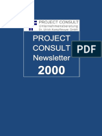 [DE] PROJECT CONSULT Newsletter 2000 | PROJECT CONSULT Unternehmensberatung Dr. Ulrich Kampffmeyer GmbH | Hamburg | Kompletter Jahrgang 2000
