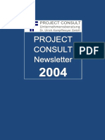 [DE] PROJECT CONSULT Newsletter 2004 | PROJECT CONSULT Unternehmensberatung Dr. Ulrich Kampffmeyer GmbH | Hamburg | Kompletter Jahrgang 2004