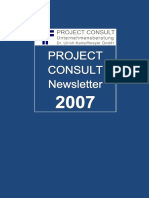[DE] PROJECT CONSULT Newsletter 2007 | PROJECT CONSULT Unternehmensberatung Dr. Ulrich Kampffmeyer GmbH | Hamburg | Kompletter Jahrgang 2007