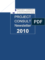 [DE] PROJECT CONSULT Newsletter 2010 | PROJECT CONSULT Unternehmensberatung Dr. Ulrich Kampffmeyer GmbH | Hamburg | Kompletter Jahrgang 2010