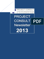 [DE] PROJECT CONSULT Newsletter 2013 | PROJECT CONSULT Unternehmensberatung Dr. Ulrich Kampffmeyer GmbH | Hamburg | Kompletter Jahrgang 2013
