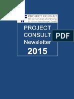[DE] PROJECT CONSULT Newsletter 2015 | PROJECT CONSULT Unternehmensberatung Dr. Ulrich Kampffmeyer GmbH | Hamburg | Kompletter Jahrgang 2015