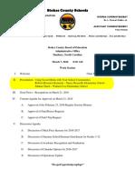 board of education agenda
