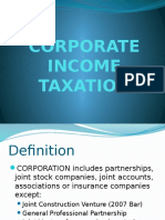 Corporate Income Taxation