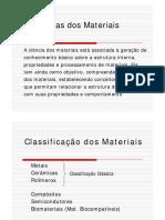 Cap I- Materiais Introdução Slides