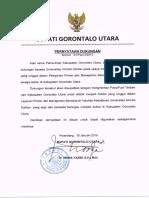 Surat PErnyataan Dukungan Pemda Gorontalo Utara _ FK UAD