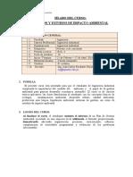 2014 - Sílabo- Estudio de Impacto Ambiental