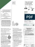 2010 Webelos Resident Camp Flyer & Registration Form