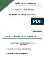 Balances de Vapor e Energia