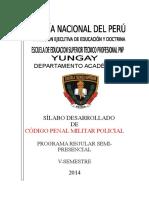 Silabo Desarrollado Codigo Penal Militar Policial