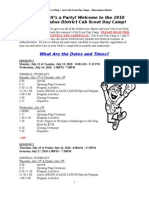 2010 Moe Cub Scout Day Camp Registration Instructions