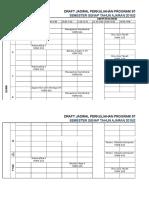 Jadwal Kuliah Sipil Semester Genap 2015&2016 Rapat 6 Januari 2016