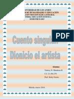 Cuento Singular. Arte Medieval, Formación Estética Constructiva. Grupo #3